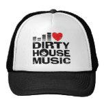 I Love Dirty House Music Hats