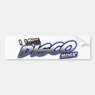 I Love DISCO music Bumper Stickers