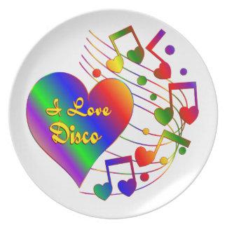 I Love Disco Plate