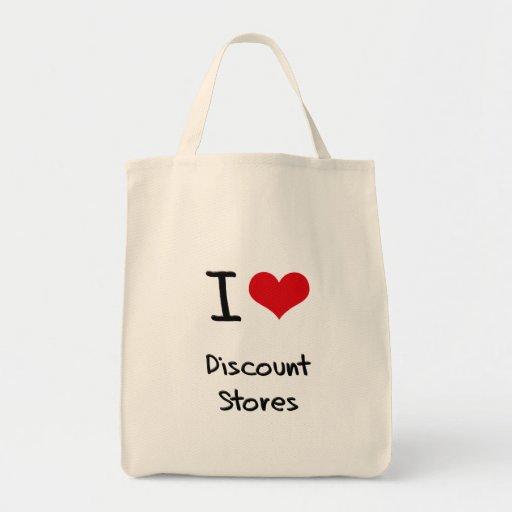 I Love Discount Stores Canvas Bag
