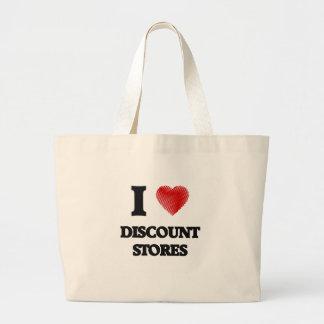 I love Discount Stores Jumbo Tote Bag