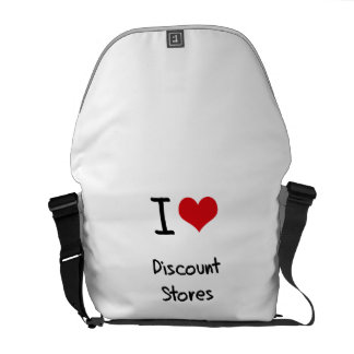 I Love Discount Stores Courier Bag