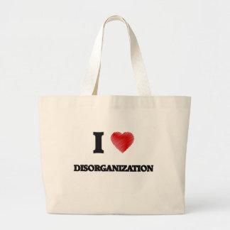 I love Disorganization Large Tote Bag