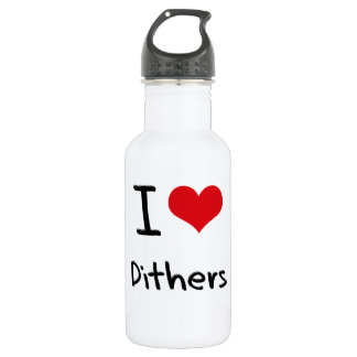 I Love Dithers 18oz Water Bottle
