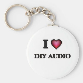 I Love Diy Audio Basic Round Button Keychain