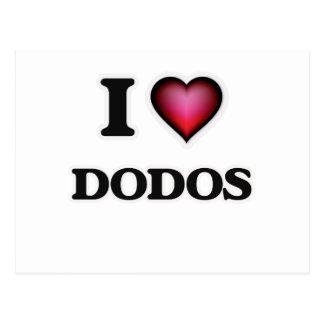 I Love Dodos Postcard