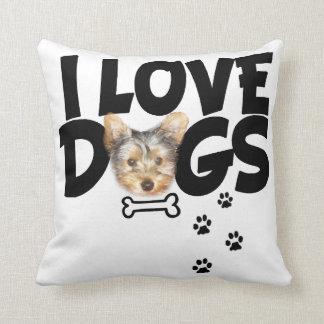 I love dog : cushion