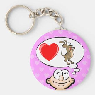 I love dog keychain