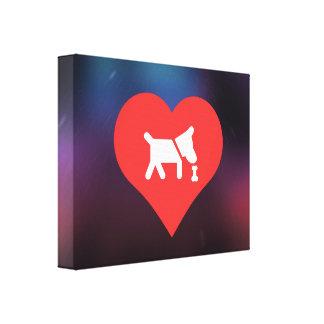 I Love Dog Treats Modern Canvas Print