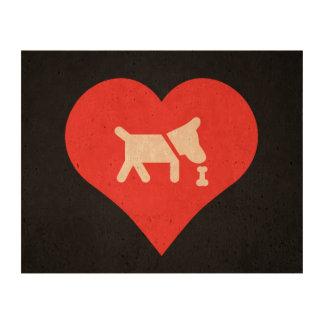 I Love Dog Treats Modern Photo Cork Paper