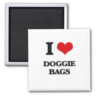 I Love Doggie Bags Magnet