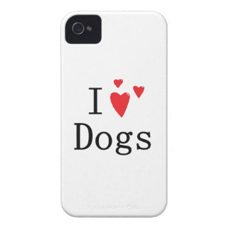 I Love Dogs Blackberry Bold Case-Mate iPhone 4 Case