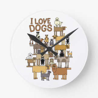 I LOVE DOGS CLOCKS