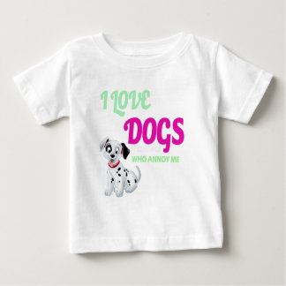 i love dogs it is people who annoys me baby T-Shirt
