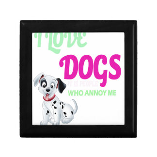 i love dogs it is people who annoys me gift box