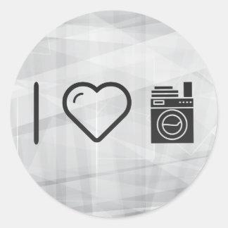 I Love Doing Laundrys Round Sticker