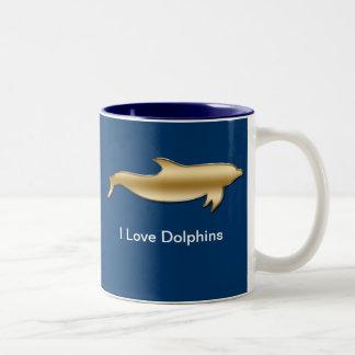 I Love Dolphin Mugs