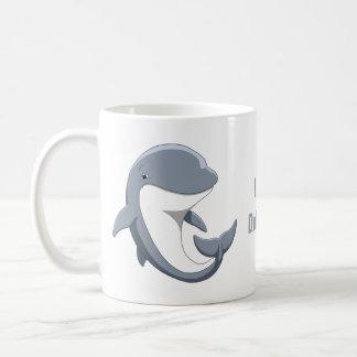 I Love Dolphins Cute Bottlenose Coffee Mug