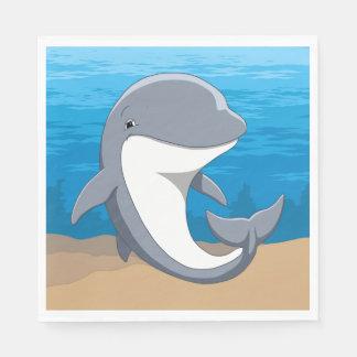 I Love Dolphins Cute Bottlenose Paper Napkins