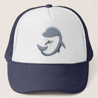 I Love Dolphins Cute Bottlenose Trucker Hat