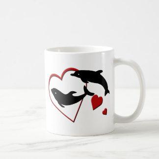 I Love Dolphins Hearts Mugs