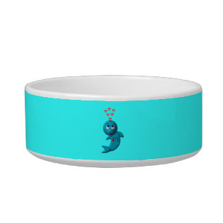 I love dolphins - I love you Pet Water Bowls