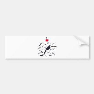 I love dolphins - Master the dolphins Bumper Sticker