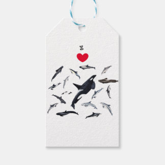 I love dolphins - Master the dolphins Gift Tags