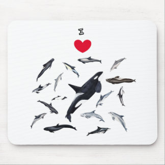 I love dolphins - Master the dolphins Mouse Pad