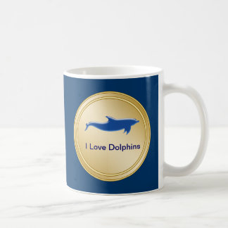 I Love Dolphins Mugs
