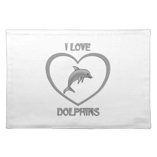 I Love Dolphins Placemat