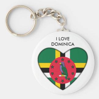I love Dominica Key Chain