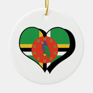 I Love Dominica Ornament