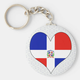 I Love Dominican Republic Basic Round Button Keychain