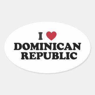 I Love Dominican Republic Oval Sticker