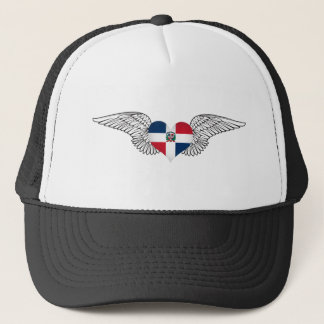 I Love Dominican Republic -wings Trucker Hat