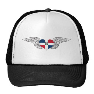 I Love Dominican Republic -wings Trucker Hat