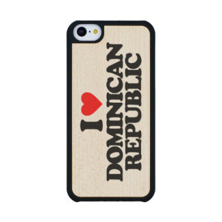 I LOVE DOMINICAN REPUBLIC CARVED® MAPLE iPhone 5C CASE