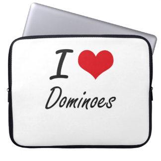 I love Dominoes Computer Sleeve