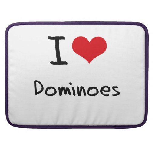 I Love Dominoes MacBook Pro Sleeve
