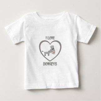 I Love Donkeys Baby T-Shirt