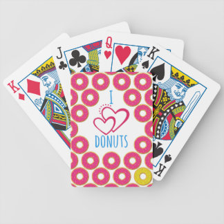 I love donuts poster. bicycle playing cards