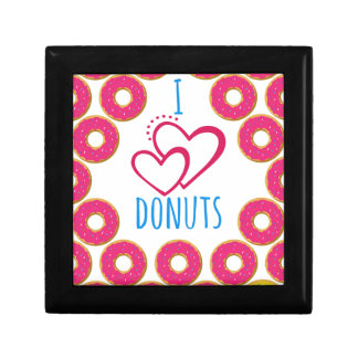 I love donuts poster. gift box