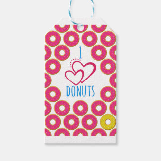 I love donuts poster. gift tags