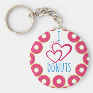 I love donuts poster. keychain