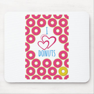I love donuts poster. mouse pad