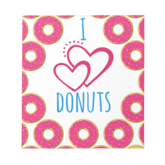 I love donuts poster. notepad