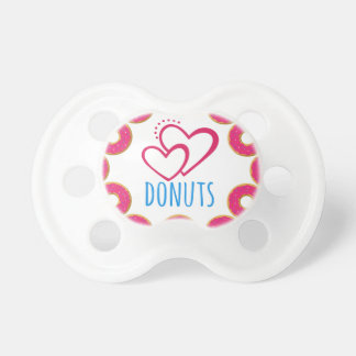 I love donuts poster. pacifier