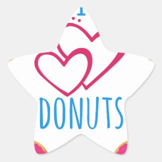 I love donuts poster. star sticker