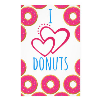 I love donuts poster. stationery
